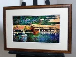 Разведенные мосты Невы, акварельная композиция
