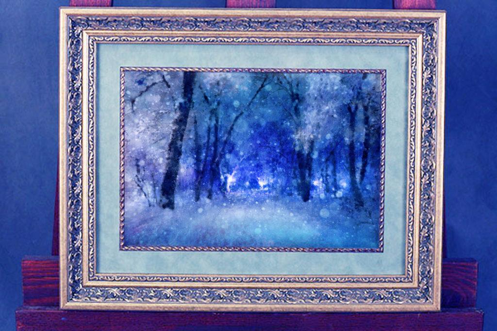 Парк,зимний, синева