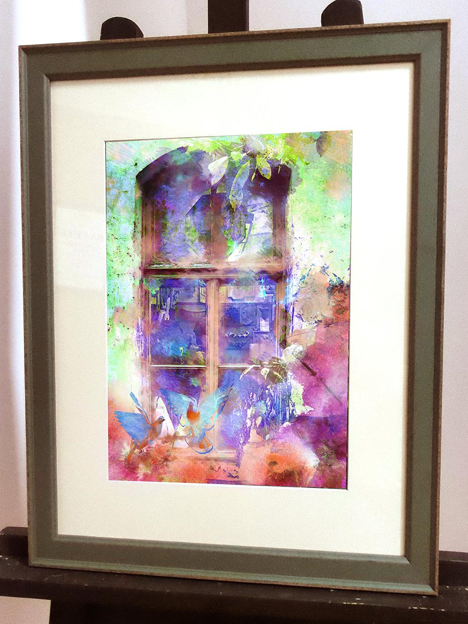 окно академии худажеств в багете